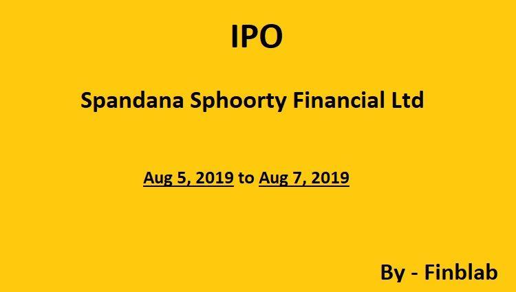 Spandana sphoorty financial limited ipo